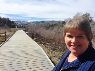 Kim at Dennis Weaver Park in Ridgway, Colorado (photo)